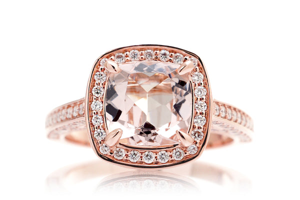 The Solstice Cushion Morganite