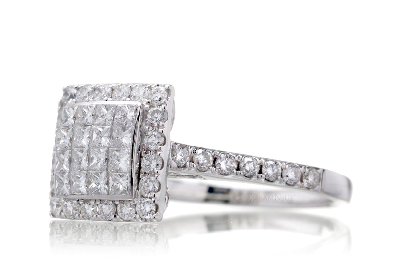 The Tess Princess Diamond Ring Set (1.14 ct. tw.)
