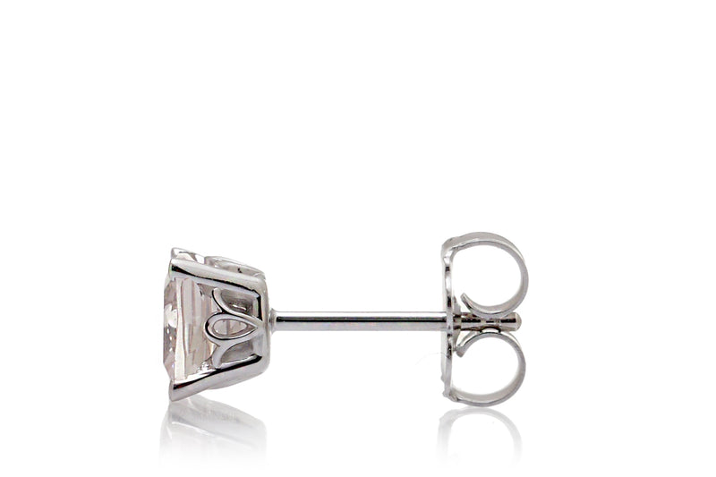 Cushion Morganite Studs Four-Prong