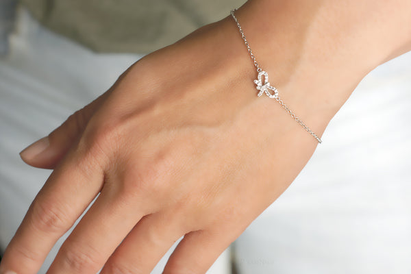 samNsue diamond bow bracelet petite