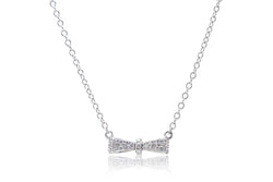 The Small Bow Diamond Necklace