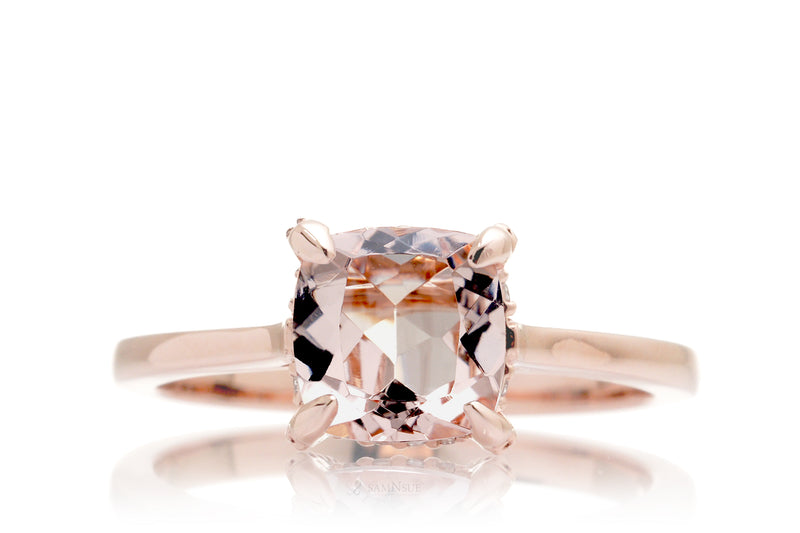 The Tracy Cushion Morganite