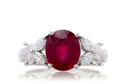 The Meryl Oval Ruby (3.10ct tw*)