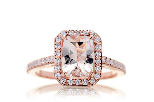The Steffy Cushion Morganite