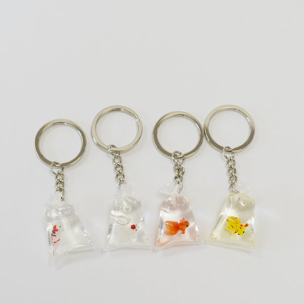 Oranda Goldfish in Bag Keychain