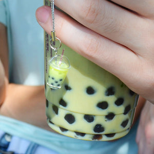 Matcha Boba Bubble Tea Keychain