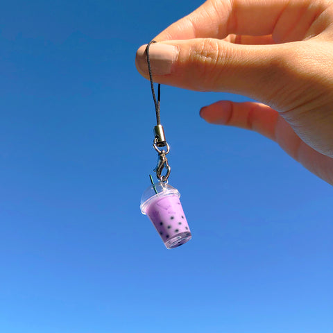 Taro Boba Bubble Tea Keychain