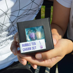 Boba Bubble Tea Charm Set