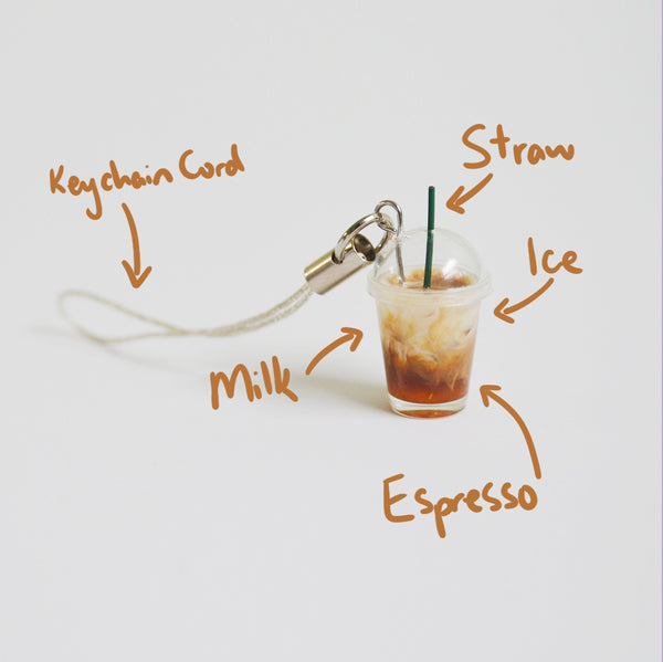 Iced Coffee Keychain