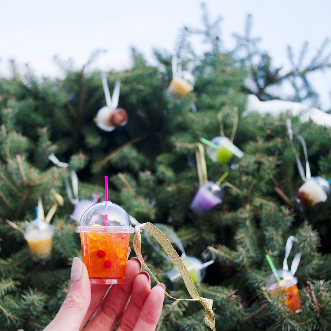 Iced Fruit Tea Ornament