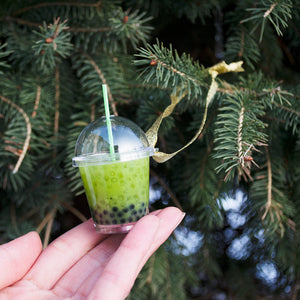 Matcha Boba Ornament