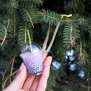 Taro Boba Ornament