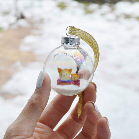 Small Shiba Inu Glass Ornament #1