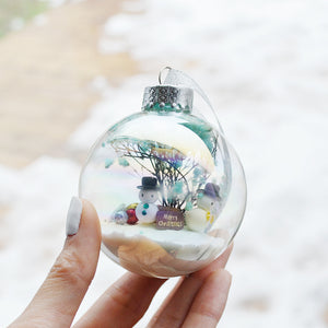 Large Snowman Glass Ornament #1