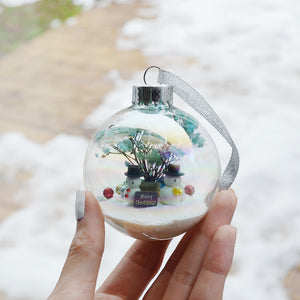 Large Snowman Glass Ornament #2