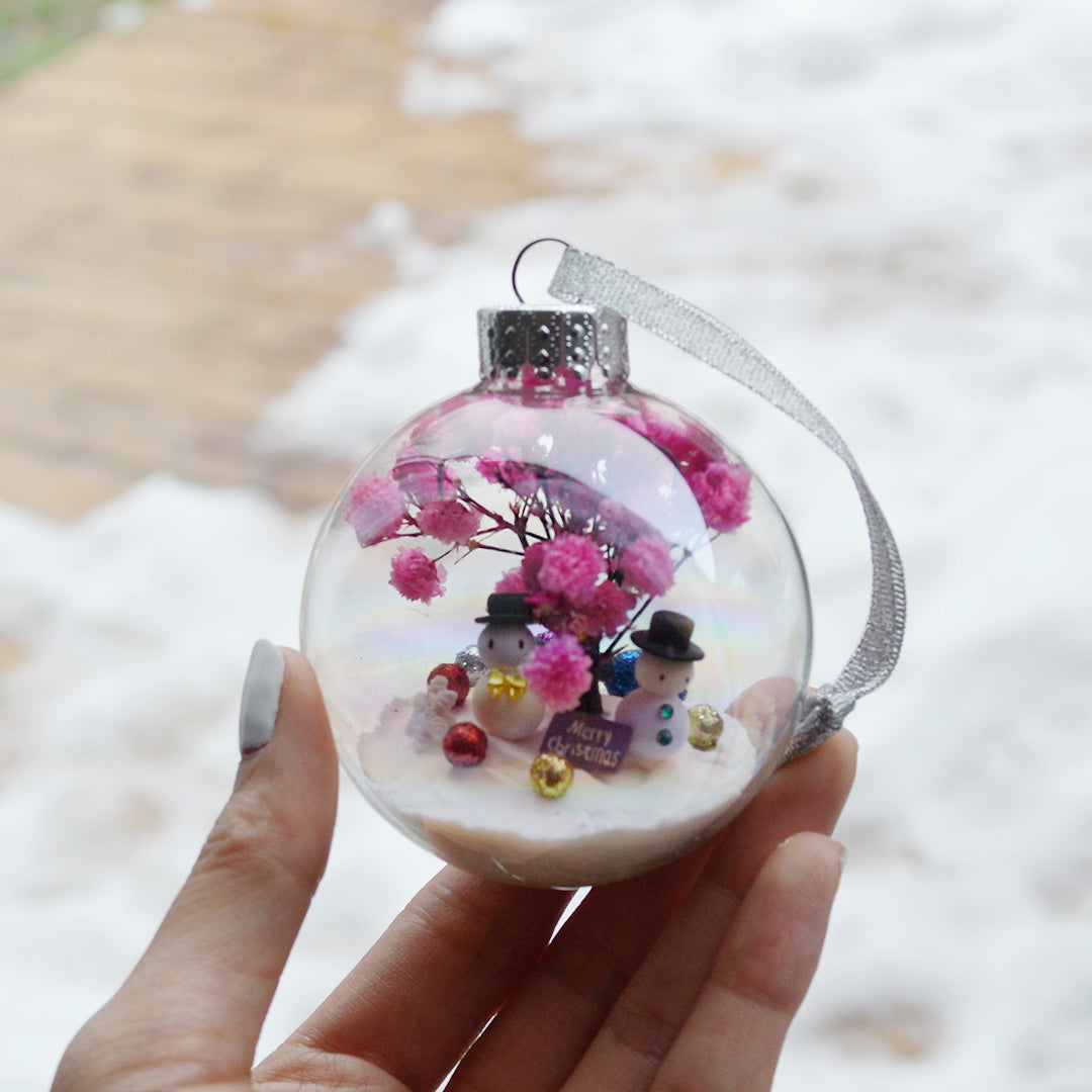 Large Snowman Glass Ornament #3
