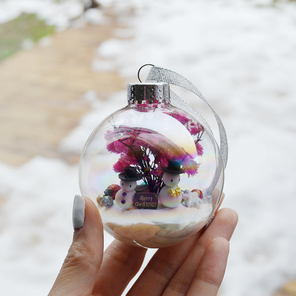 Large Snowman Glass Ornament #4