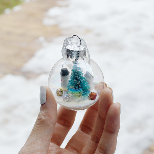 Small Snowman Glass Ornament #5