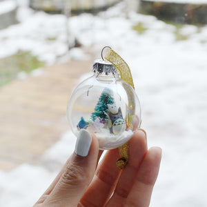 Small Totoro Glass Ornament #1