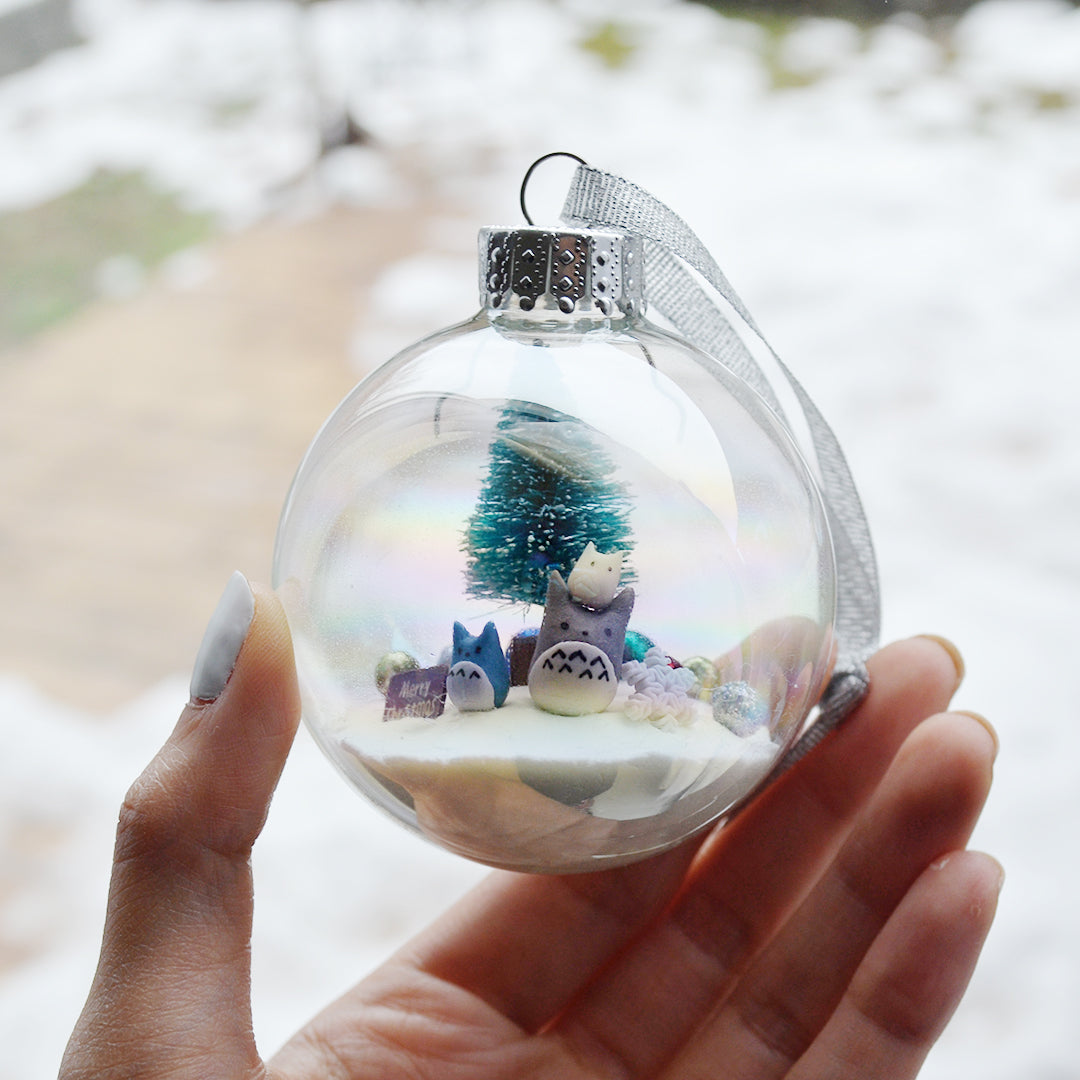 Large Totoro Glass Ornament #1