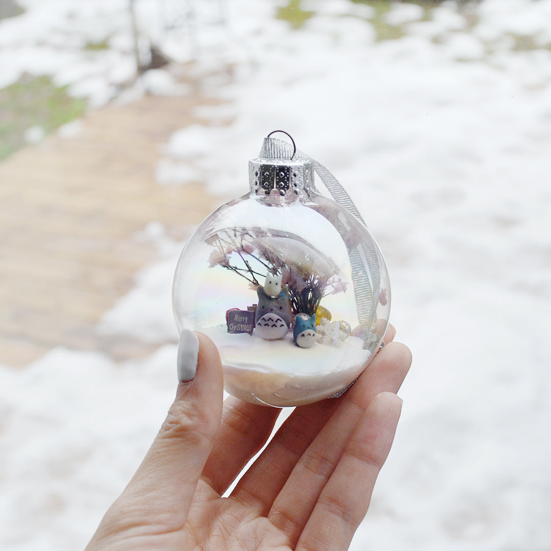 Large Totoro Glass Ornament #2