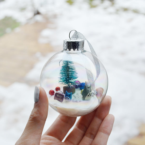Large Totoro Glass Ornament #3