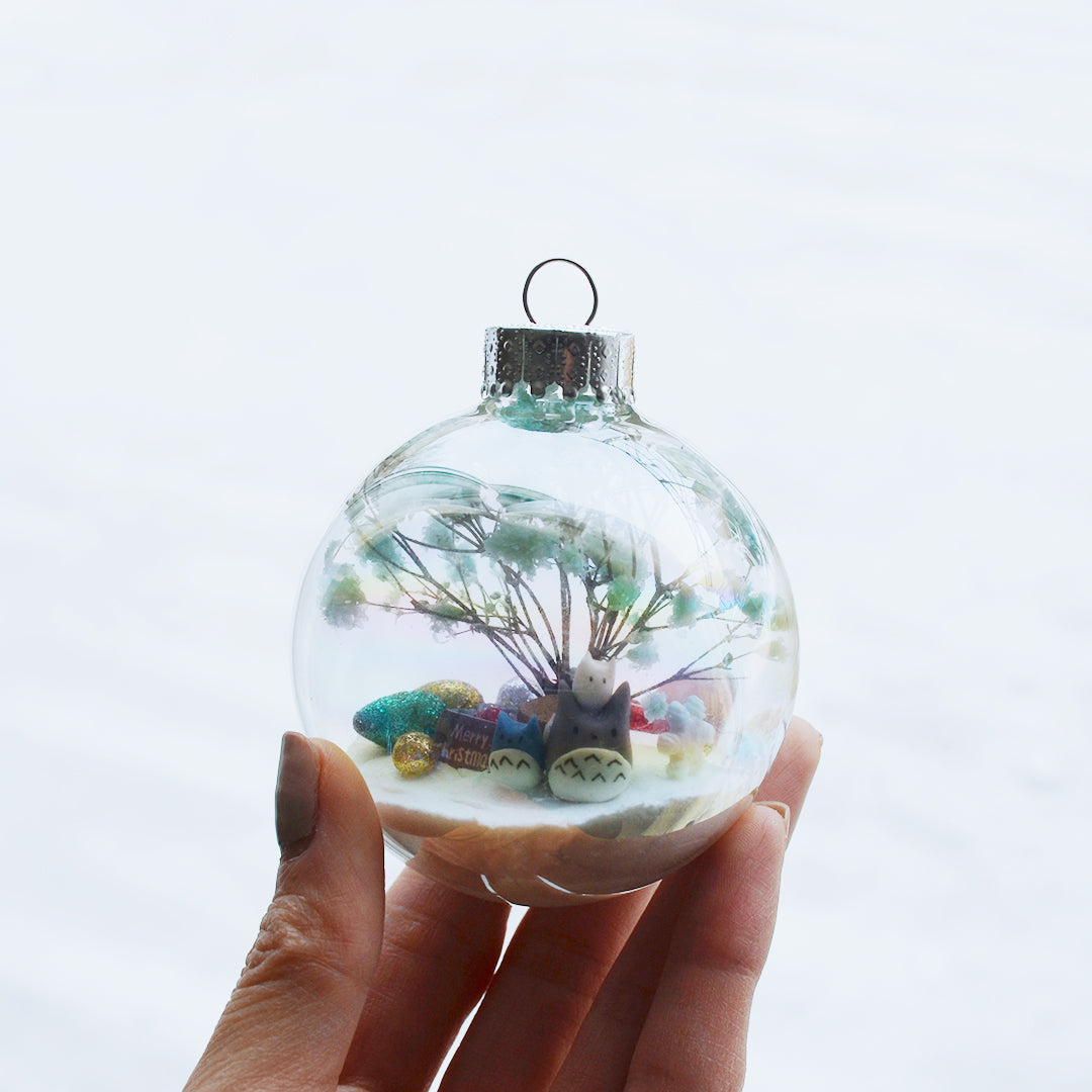 Large Totoro Glass Ornament #6