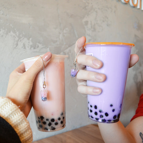Taro Bubble Tea Keychain