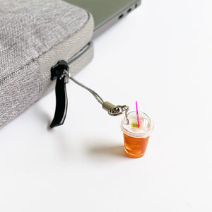 Black Tea Milk Foam Keychain