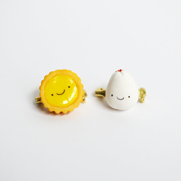 Egg Tart Clay Pin
