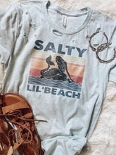 Load image into Gallery viewer, Salty 'Lil Beach Mermaid Destructed Tee