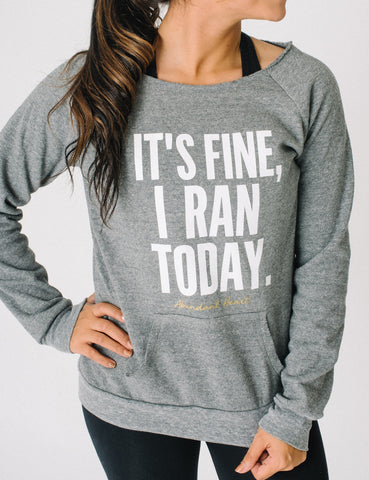 Ran Today Wide Neck Sweatshirt