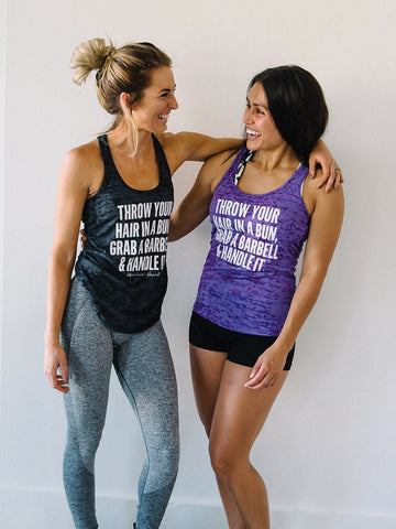 Bun, Barbell & Handle It Burnout Tank