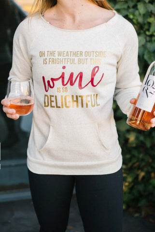 Wine Holiday Sweatshirt