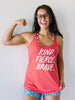 Kind Fierce Brave Tri-blend Tank