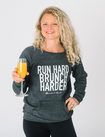 Sunday RUNday Wide Neck Sweatshirt