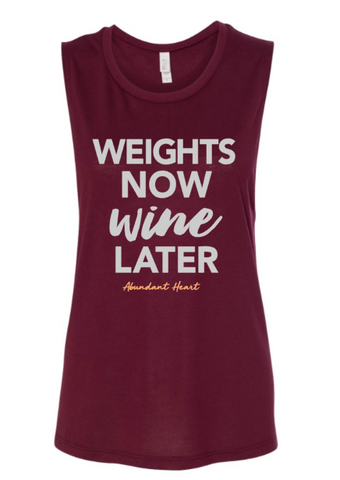 Weights Now Wine Later Tank