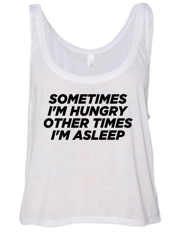 Always Hungry Flowy Crop Tank