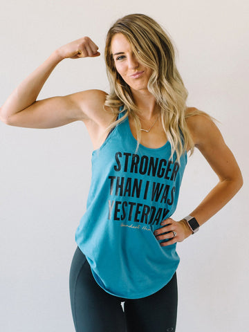 Stronger Than Yesterday Perfect Racerback Tank