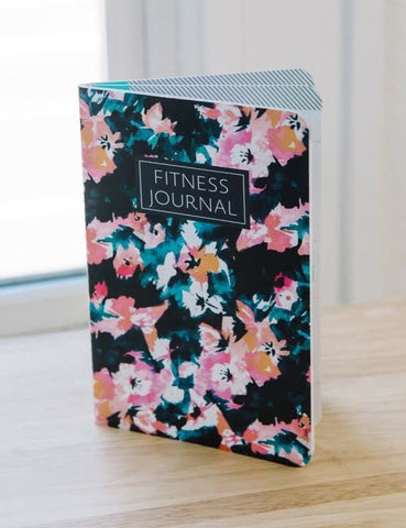 Fitness Journal - Black Floral