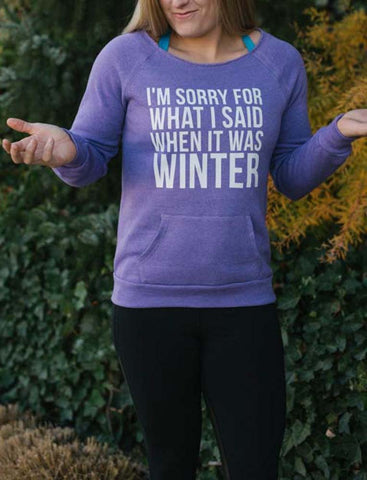 I Hate Winter Sweatshirt