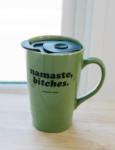 Namaste, Bitches. 18oz Mug