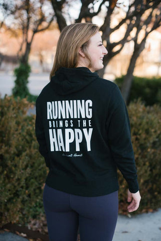 Running Brings the Happy Hoodie