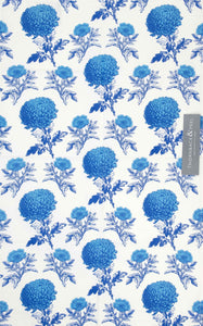 Thornback & Peel Blue Chrysanthemum Tea Towel