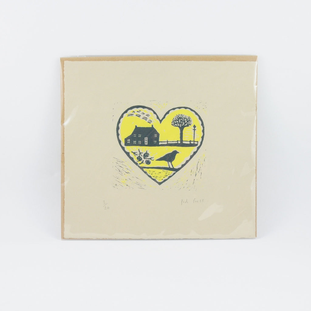 Pod Press Yellow  Heart print
