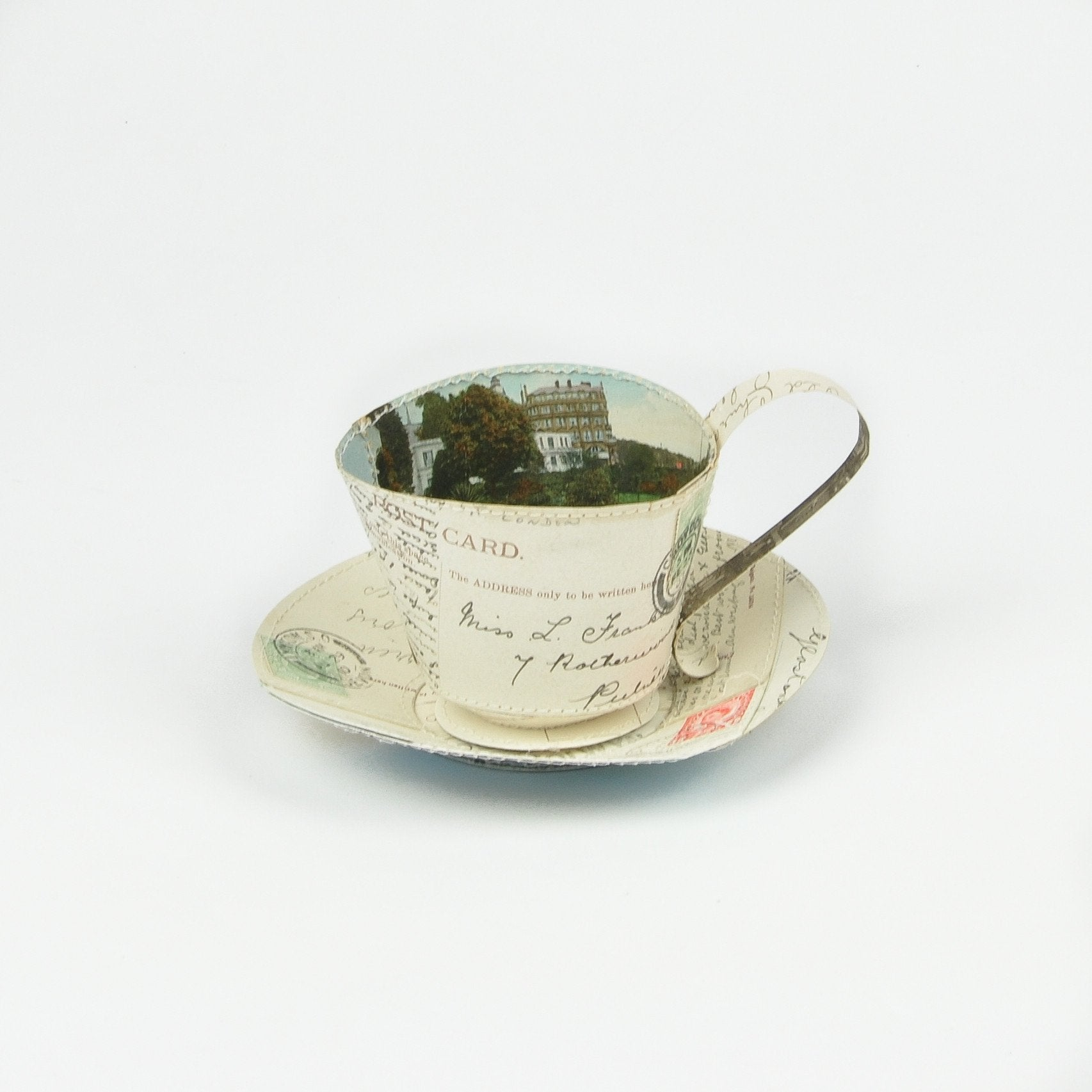 Jennifer Collier Paper Tea Cup and Saucer