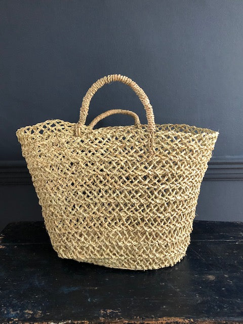 Open Weave Shopper Basket