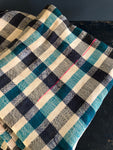 Vintage Moroccan Throw - Blue Check