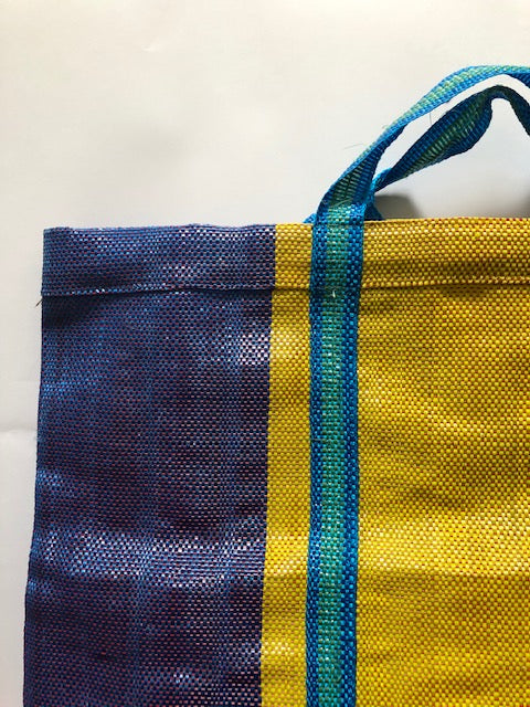 Shopping Bag- Red or Yellow Wide Stripe