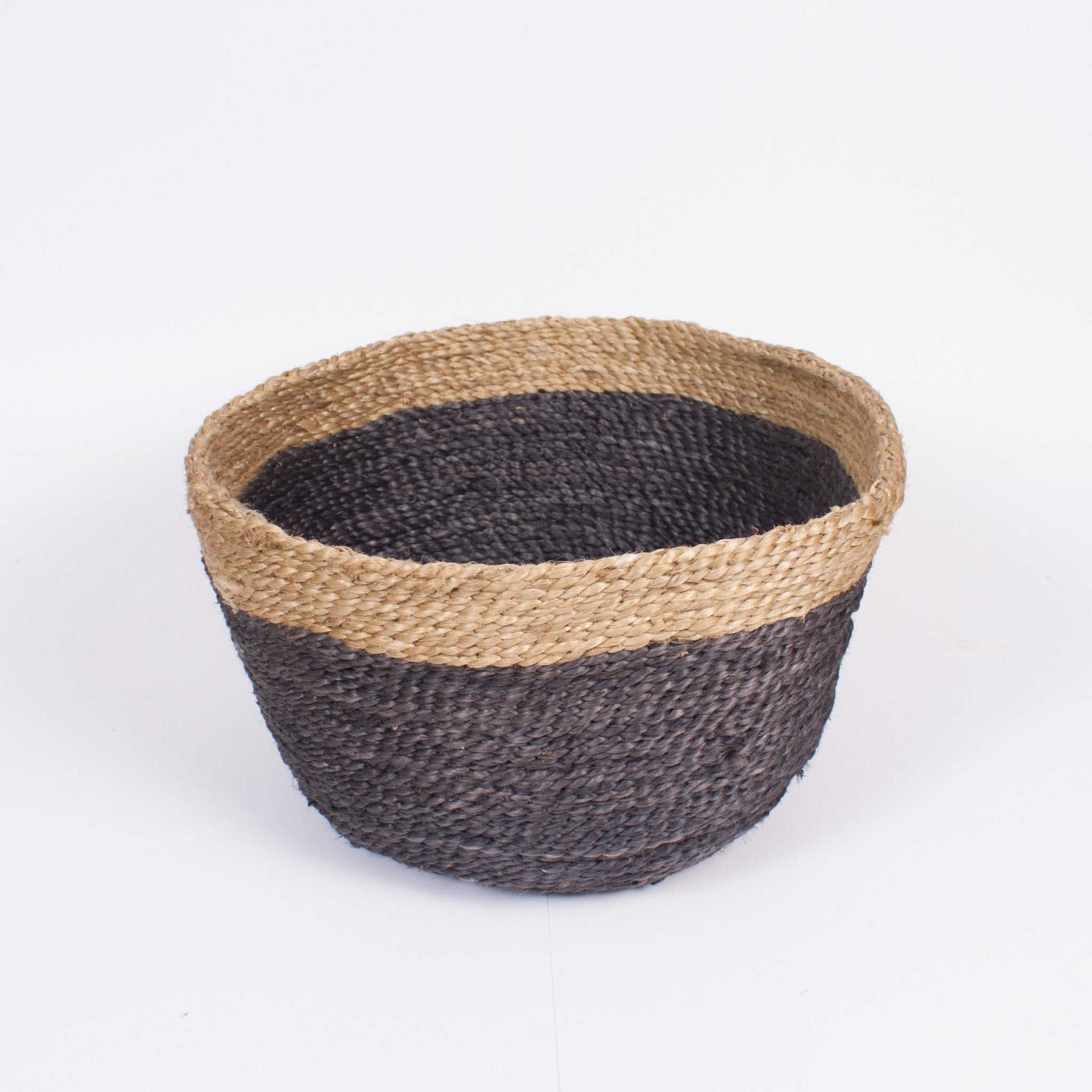 Two Tone Round Jute Basket